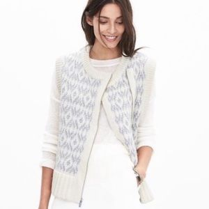 BANANA REPUBLIC | Italian Yarn Wool Alpaca Vest XS